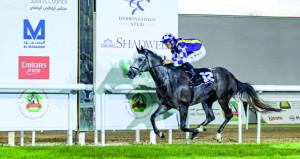 إبراهيم الحضرمي يحقق انتصارا جديدا في بطولة التاج الثلاثي العربي للخيول بحصول المهرة احتشام على المركز الأول بمضمار أبوظبي