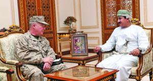 استعراض مجالات التعاون العسكري القائم بين السلطنة والولايات المتحدة الأميركية