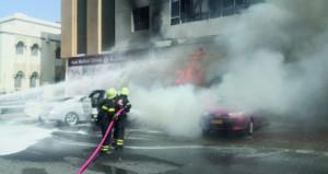 (الدفاع المدني) يسيطر على حريق شبَّ بإحدى البنايات بمنطقة العذيبة بمسقط دون وقوع أي اصابات أو خسائر بشرية