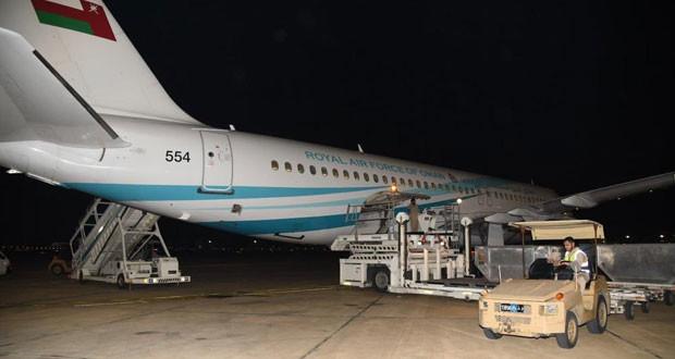سلاح الجو السلطاني العماني يستقدم مواد طبية من الصين