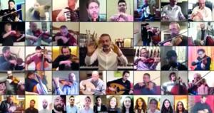 عزف أوركسترالي عبر الشاشات الذكية يكسر عزلة اللبنانيين في منازلهم