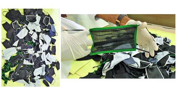 ضبط عمالة وافدة في ظفار تقوم بتصنيع كمامات من مخلفات الخياطين