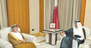 رسالة شفوية من جلالة السلطان لأمير قطر