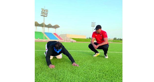 بدء تدريبات المنتخب الوطني لكرة القدم للمكفوفين عن بُعد
