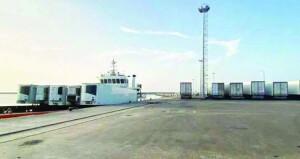 """""""مرافي"""" تدشن خطا مباشرا بين ميناءي السويق وجاسك الإيراني بواقع 3 رحلات أسبوعياً"""
