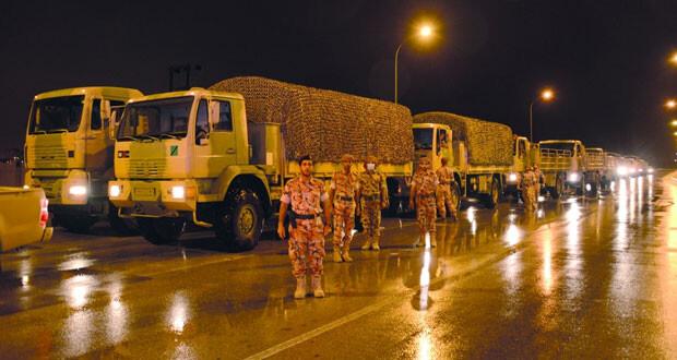 قوات السلطان المسلحة تواصل تقديم واجباتها وجهودها الوطنية وخدماتها الإنسانية في الحالة المدارية بمحافظة ظفار