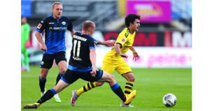 في الدوري الالماني: دورتموند يبقي على آماله الضئيلة باللقب بثلاثية لسانشو