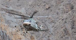 طيران الشرطة ينقذ مواطنا من أحد جبال ينقل