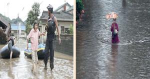 فيما أودت بحياة 59 في الهند الفيضانات والانهيارات الأرضية تجبر الآلاف على إخلاء منازلهم باليابان