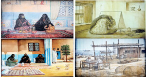 يضم 12 لوحة توثق جماليات الموروث الشعبي معرض فني افتراضي بالدوحة بعنوان «تراثيات» لحسن بوجسوم