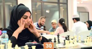 أناة العيسائية بطلة بطولة عمان الفردية للشطرنج للفتيات عفراء البلوشية ثانياً والعنود الغافرية ثالثاً