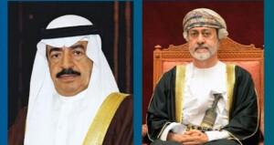 جلالة السلطان يستعرض مع رئيس وزراء البحرين العلاقات الأخوية بين البلدين