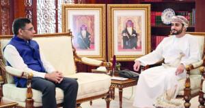 وزير الثقافة والرياضة والشباب يستقبل سفير جمهورية الهند