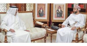 وزير الثقافة والرياضة والشباب يستقبل السفير الإماراتي