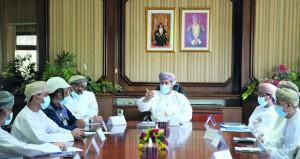وزير التجارة والصناعة وترويج الاستثمار يجتمع بالمستثمرين في مدينة الرسيل الصناعية