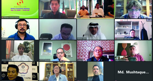 اللجنة الأولمبية العمانية تشارك في الاجتماع الأول للجنة الإعلامية بالمجلس الأولمبي الآسيوي
