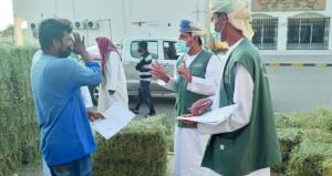 ضبط مخالفات بأوزان الأعلاف والحشائش بالشرقية