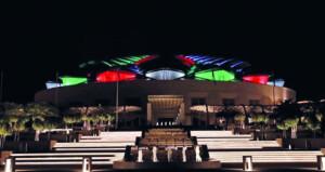 صورة ليلية لمركز عُمان للمؤتمرات والمعارض