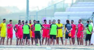 منتخبنا الوطني لكرة القدم الشاطئية يدخل اليوم معسكرا تدريبيا ببوشر