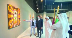 التشكيلي السوري صلاح الدين البزري يقيم معرضه الشخصي (دمشق درة الشرق) في الدوحة