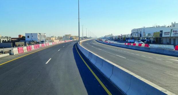 افتتاح طريق السويق ـ الحوقين أمام الحركة المرورية