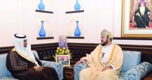أسعد بن طارق يودع سفيري السعودية وجنوب أفريقيا