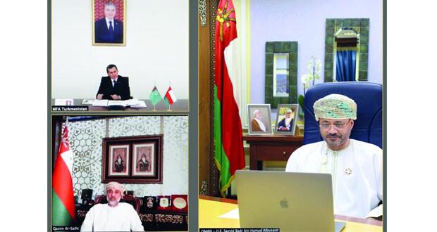 بحث العلاقات الثنائية بين السلطنة وجمهورية تركمانستان