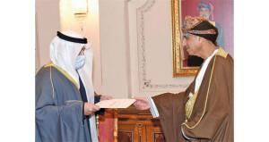 رسالة لجلالة السلطان من أمير الكويت