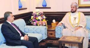أسعد بن طارق يستقبل السفير الجزائري