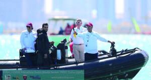 العلوي يشارك في إدارة ماراثون قطر الدولي للسباحة للمرة الرابعة على التوالي