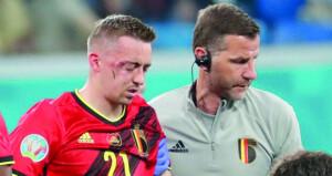 البلجيكي كاستاني خارج كأس أوروبا بعد كسرين في وجهه