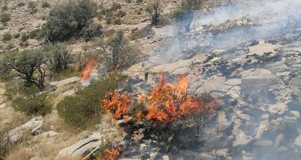 جهود لاحتواء حريق فـي رأس الحرق بالحمراء