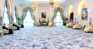 جلالة السلطان وخادم الحرمين يعقدان جلسة مباحثات رسمية بقصر نيوم