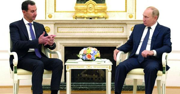 بوتين والأسد يبحثان التعاون الثنائي و«مكافحة الإرهاب»