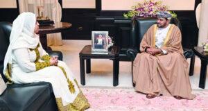 نيابة عن جلالة السلطان.. فاتك بن فهر يودع سفيرة إثيوبيا