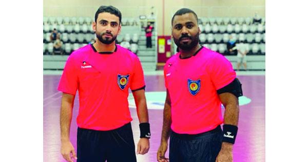 الوهيبي والشحي يديران مباراة كأس السوبر الإماراتي البحريني لكرة اليد