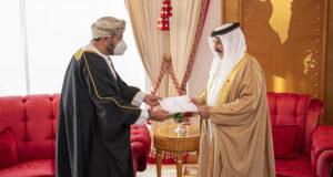 جلالة السلطان يبعث رسالة خطية إلى ملك البحريـن
