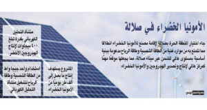 تحالف دولي لإنتاج الأمونيا الخضراء فـي «الحرة بصلالة»