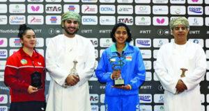 فهر بن فاتك يتوج الفائزات بألقاب بطولة عمان الدولية للأشبال والناشئين لكرة الطاولة