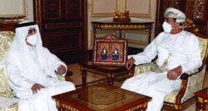 وزير المكتب السلطاني يستقبل سفير دولة الإمارات العربية المتحدة