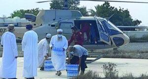شؤون البلاط والحرس السلطاني ينفذان عمليات إسناد وإغاثة ّّ