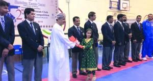 ختام منافسات بطولة نادي أهلي سداب الثانية للكاراتيه