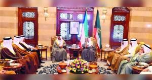 صباح الأحمد يستقبل سفراء دول مجلس التعاون الخليجي لدى السلطنة