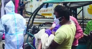 قفزة قياسية للوفيات بالهند مع تراجع ضئيل للإصابات