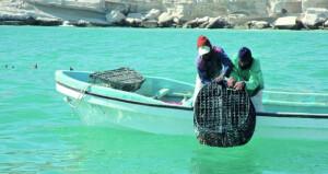 أكثر من 176.2 طن إجمالي كمية الأسماك المنزلة في السلطنة بنهاية فبراير الماضي