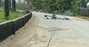 أضرار بالممتلكات الخاصة جراء الحالة الجوية بصحم
