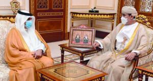 وزير المكتب السلطاني يستقبل السفير السعودي