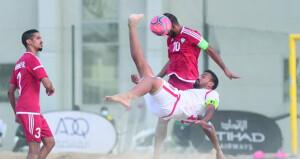 منتخب القدم الشاطئية يلاقي السنغال للمرة الثانية ويخسر من الإمارات